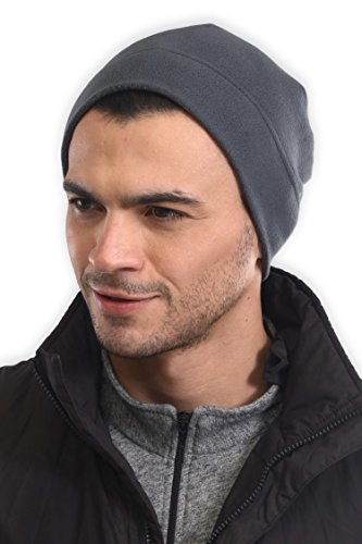 Tough Headwear Fleece Winter Beanie Hat - Cold Weather Midweight Watch Cap for Men & Women - Ultimate Thermal Retention and Performance Stretch. Perfect for Sports & Daily Wear -