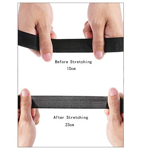10cm Wide Flat Elastic Bands Waistband Tape Black Sewing Bands Webbing Garment Sewing Accessories for Dressmaking//Sewing//DIY Crafts 3 Yards