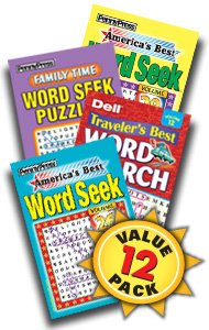 Best Word Seek Puzzle-12 Pack (Word Search Puzzles Magazine)