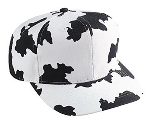 Cow Pattern Cotton Twill Pro Style Cap Black/White