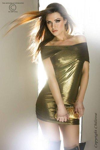 Chilirose - Vestido - para mujer dorado