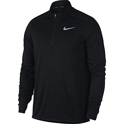 NIKE Men's Pacer Half-Zip Top, Black, X-Large (Golf Nike Apparel Men)