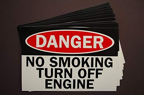 Danger - No Smoking Turn Off Engine Sticker Vinyl Decal 6