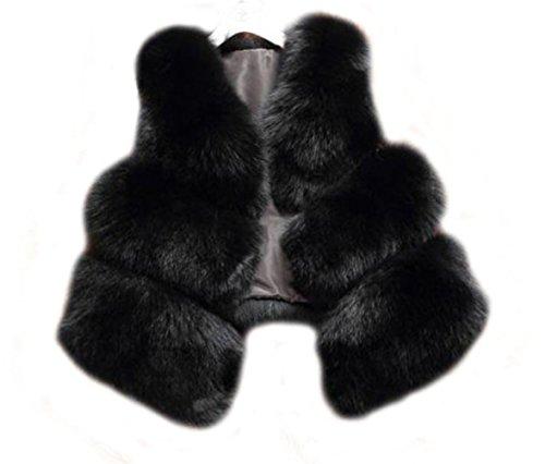 骨髄浮く最終Tortor 1Bacha レディース ラクーンファー 皮革 レザー 毛皮 ベスト チョッキ コート アウター (XL, ブラック)
