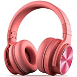 COWIN E7 Pro [2018 Upgraded] Active Noise Cancelling Headphone Bluetooth Headphones Microphone Hi-Fi Deep Bass Wireless Headphones Over Ear 30H Playtime Travel Work TV Computer Phone - Pink