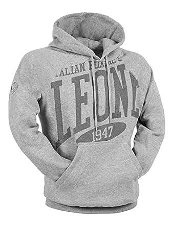 Leone 1947 Grey Round Neck Hoodie & Sweatshirt For Unisex