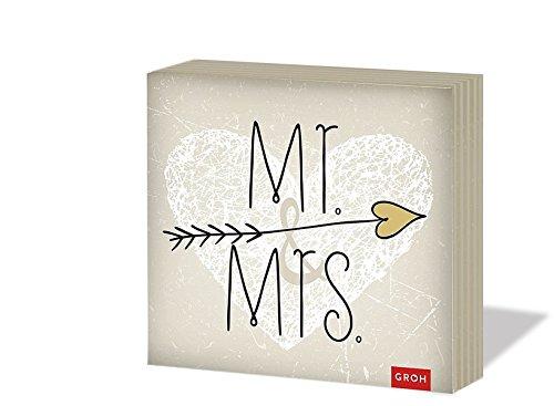 Groh 50365 Mr. & Mrs., 20 Servietten