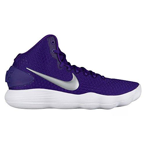 NIKE Women's Hyperdunk 2017 TB Basketball Shoe Court Purple/Metallic Silver/White