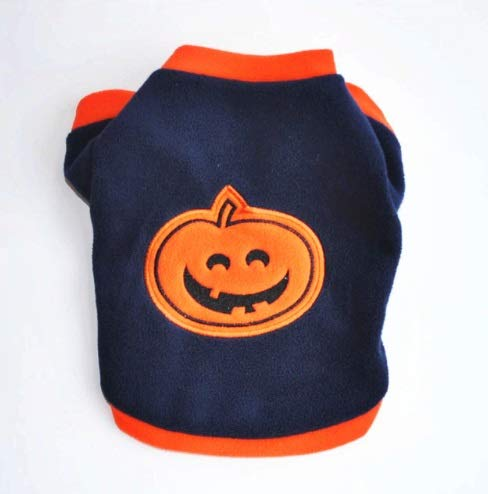 Taka Co Dog Halloween Costume Small Dog Vest Cat Dog Halloween Christmas Party Costumes Pumpkin Suit Clothes Pet Cat Product for Small Dog (Dark Blue)
