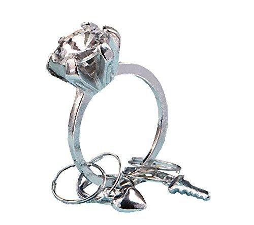 Diamond Ring Design Keychain Wedding Favors, 16