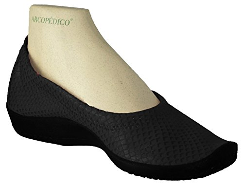 discount newest Arcopedico Women's L15D Slip On Loafers Shoes Black Shine discount geniue stockist YBIts