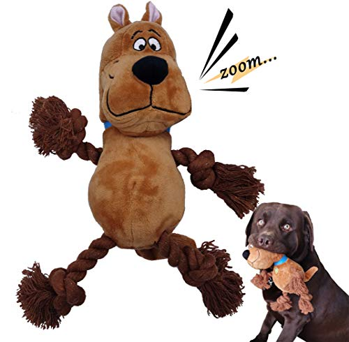 Dog Chew Toys for Interactive Squeak, Dog Plush Toys, Add Daily Entertainment to Your pet and Cleans Teeth , Reducing Boredom ,Give Pets a Warm Playmate 14.1x11in