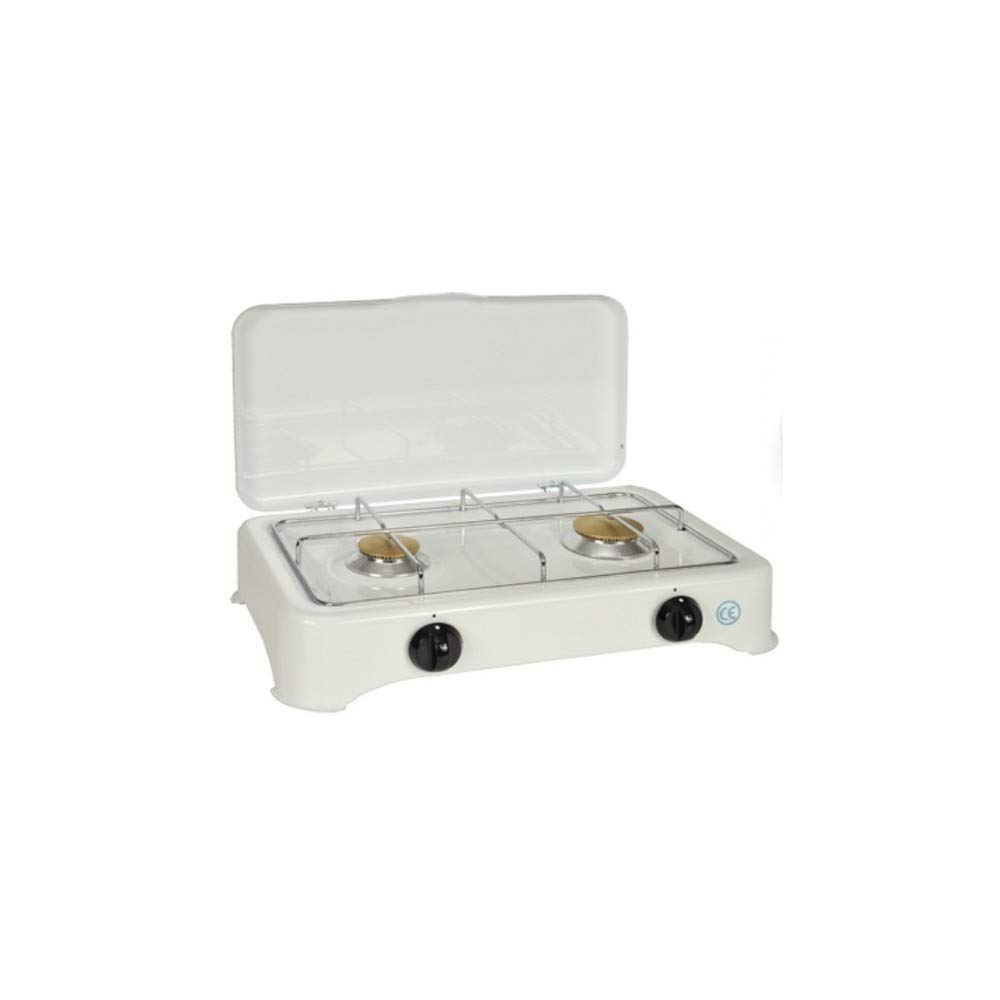 kitchenchef 5326 C Plan de horno de mesa Gas blanco: Amazon.es: Hogar