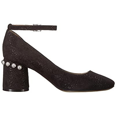 Brand - The Fix Women's Mona Embellished Block Heel Ankle Strap Pump: Shoes