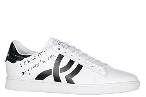 Shoes John Leather Richmond Trainers White Logo Sneakers Men's qpBZBE