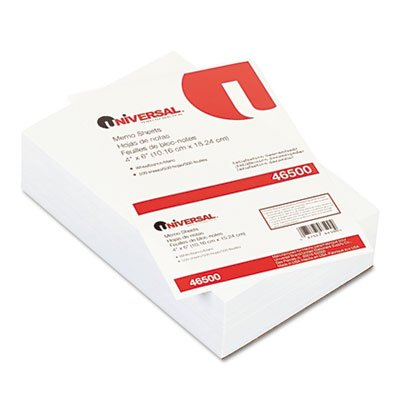 - Universal Products - Universal - Loose Memo Sheets, 4 x6, White, 500 Sheets/Pack - Sold As 1 Pack - Handy Loose memo Sheets for jotting Down Quick Notes and Messages.