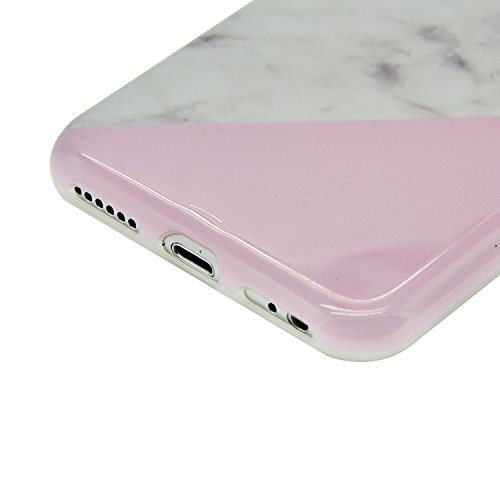 Funda para iPhone 7 Sunroyal Premium Mármol Suave TPU Carcasa Parachoques Bumper Tapa Flexible Silicona Portátil Protectora Absorción de Golpes Case Ultra Delgado Caja del Teléfono para iPhone 7 4.7  A-20