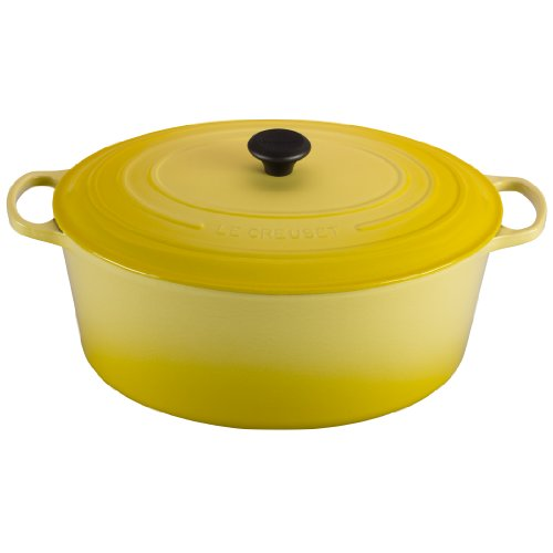 Le Creuset Signature Enameled Cast-Iron OvalFrench (Dutch) Oven, 15-1/2-Quart, Soleil