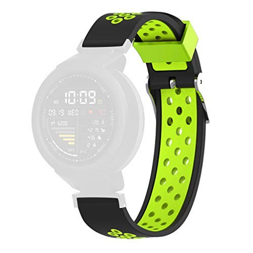 Price comparison product image BIYATE Strap For Xiaomi Huami Amazfit Verge Youth Watch,  Women Men Sports Soft Silicone Breathable Watch Band Wrist Strap Bracelet for Huami Amazfit Verge Youth Watch