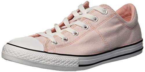 Converse Girls' Chuck Taylor All Star Madison Low Top Sneaker Storm Pink/White, 2 M US Little Kid ()
