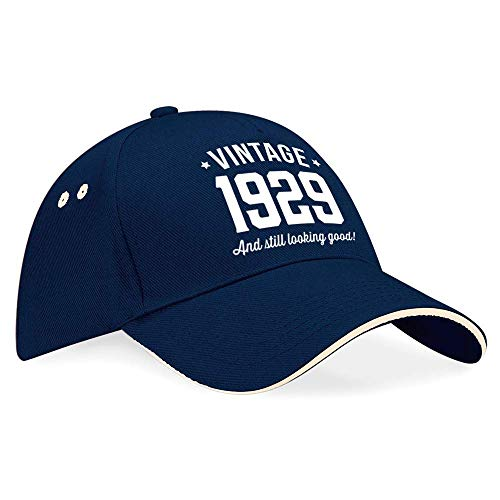 90th Birthday 1929 Baseball Cap Hat Gift Idea Present keepsake for Women Men