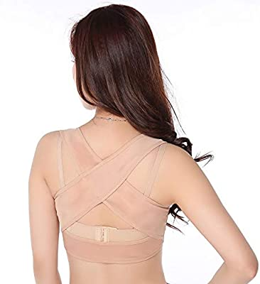 Humpback Posture Corrector Tops Shapewear for Women Compression Breast Up Cross Back Support
