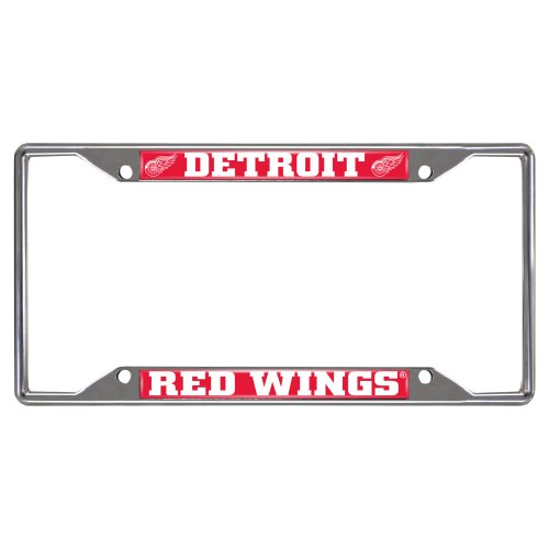 FANMATS NHL Detroit Red Wings Chrome License Plate Frame by Fanmats