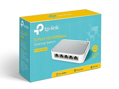 TP-Link 5 Port Fast Ethernet Switch | Desktop Ethernet Splitter | Ethernet Hub | Plug and Play | Fanless Quite | Unmanaged (TL-SF1005D) by TP-Link (Image #3)