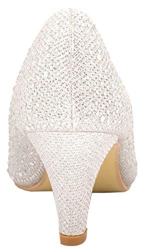 Fashion Elara toe Silber Peep Femme Escarpins wq6TgqPxX