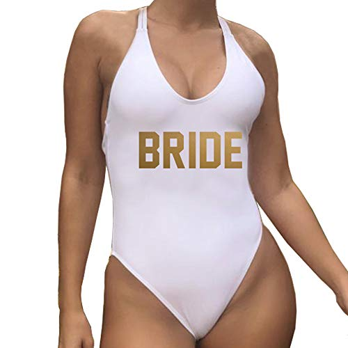 Yarsiman New Beach Bride White Gold Logo One Piece Swimsuit
