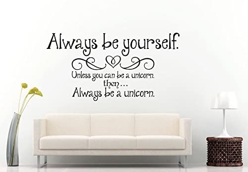 Amazon Com Adecalsnew Wall Decals Cute Always Be Yourself Quote