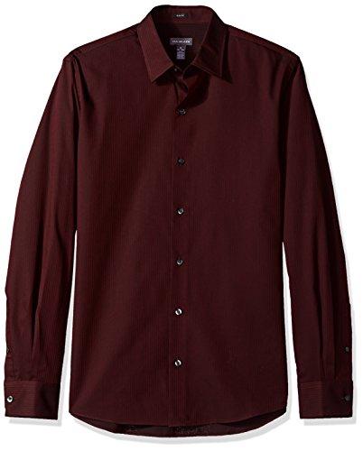 Van Heusen Men's Slim Sateen Stripe Long Sleeve Shirt, Corazon, Medium