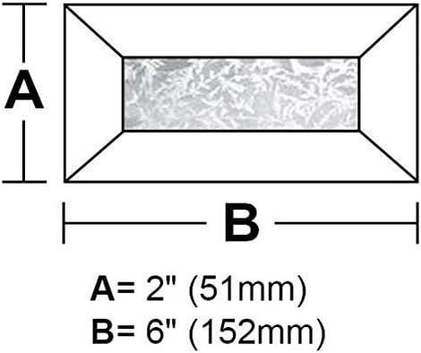 Box of 30 2 x 6 Rectangle Glue Chip Bevel