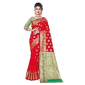 Shuru Art Banarsi silk saree with all over jari jacqaurd pattern amd rich pallu.
