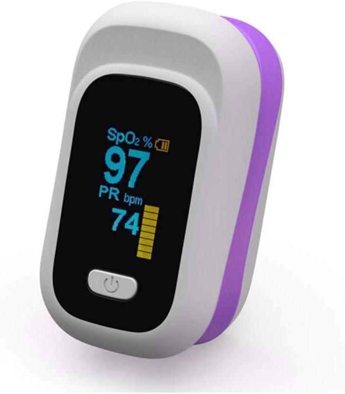 HJUNH OxíMetro De Pulso PulsioxíMetro De Dedo Saturimetro De Dedo con MedicióN De SaturacióN Pulso OxíGeno Medidor De Ritmo CardíAco Nivel De OxíGeno En La Sangre con Alarma OxíMetro Digital