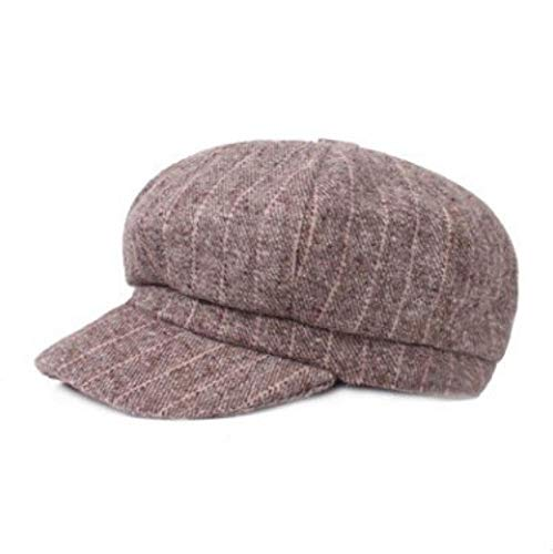 Fashion Vintage Warm Women's Newsboy Caps Autumn Winter Ladies Painter Hats (Khaki,56-58cm)