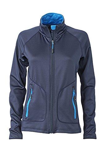 Jacke elastische Sportlichebi Fit von NavyCobalt Fleece aus Stretch XnPk8wO0