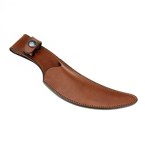 Leather Knife Sheath Designed for NCI Signature Blades - Brown (Leather Signature Spike)