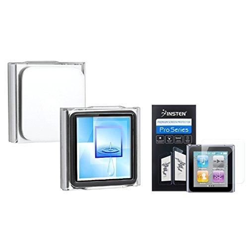 INSTEN Compatible with iPod Nano 6th Gen 6G Clear Hard Case Accessory+Film