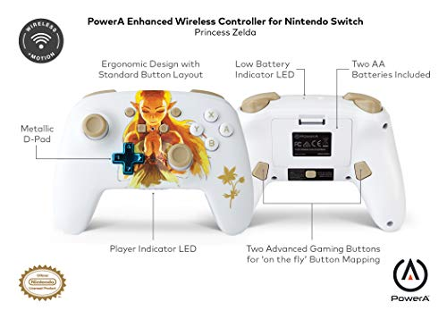 PowerA Enhanced Wireless Controller for Nintendo Switch - Princess Zelda 8