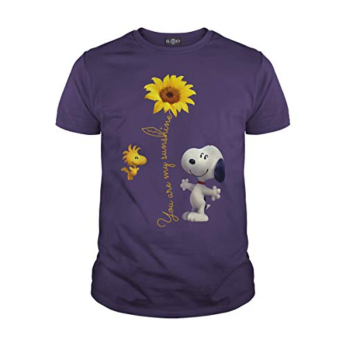 Men's Snoopy Sunflower You're My Sunshine T-Shirt (L, -