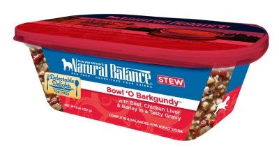 NATURAL BALANCE PET FOODS - BOWL'O BARKGUNDY STEW DOG Case 12/8OZ DELECTABLE DELIGHTS