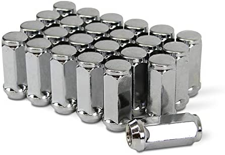 """24-12mm x 1.75 Chrome Acorn Lug Nuts 1.9/"""" Tall Most Ford Expedition Navigator"""