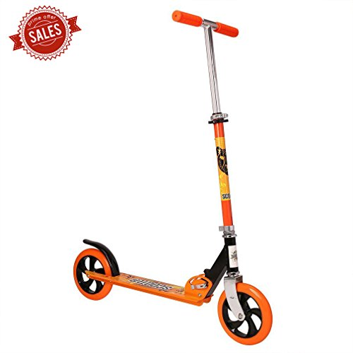 OCDAY Kick Scooter Foldable Aluminum Scooter 2 Wheel Kick Scooter Adjustable Height PU Wheels Best Gifts for Kids (Glider Travel System)