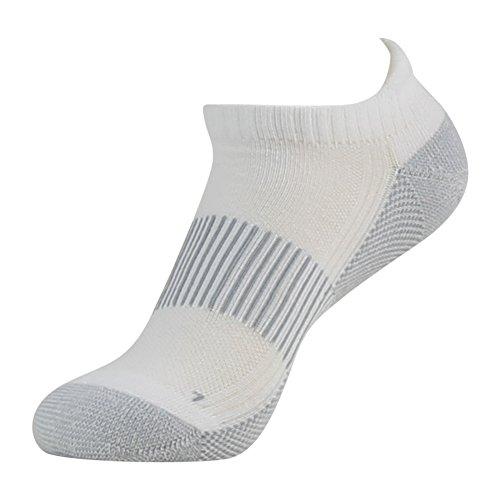 Antibacterial Athletic Socks, FOOTPLUS Men and Women Low Cut Copper Running Socks Moisture Wicking, 6 Pairs White Crew, Medium by FOOTPLUS (Image #7)