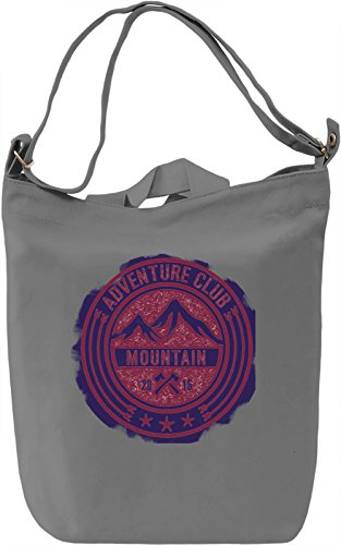 Mountain Emblem Borsa Giornaliera Canvas Canvas Day Bag| 100% Premium Cotton Canvas| DTG Printing|