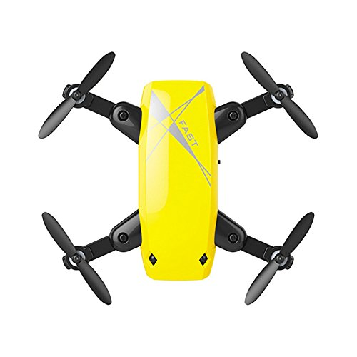 Price comparison product image ShenStar S9 Mini Quadcopter Portable Drone Altitude Hold Headless Mode NO Camera (Yellow)