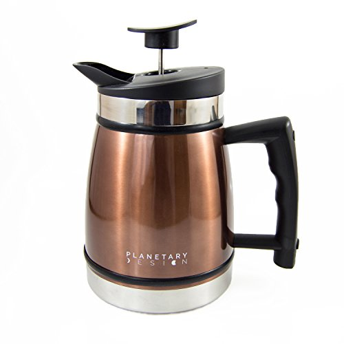 Planetary Intentions TP MO 20 Table Top Stainless Steel French Presses 20oz, Mocha