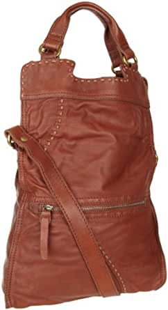 Lucky Brand Abbey Road Fold-Over Tote,Bourbon,one size