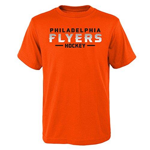 NHL Philadelphia Flyers Youth Boys Glacial Short Sleeve Tee, X-Large(18), Varsity Orange